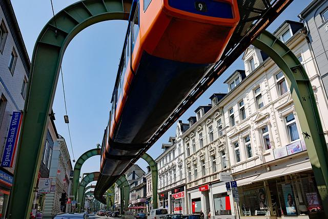 Wuppertal, Schwebebahn, Viaduct, Imperial Road, Train