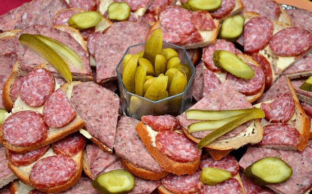 Sausage, Sandwiches, Wurstplatte, Liver Sausage