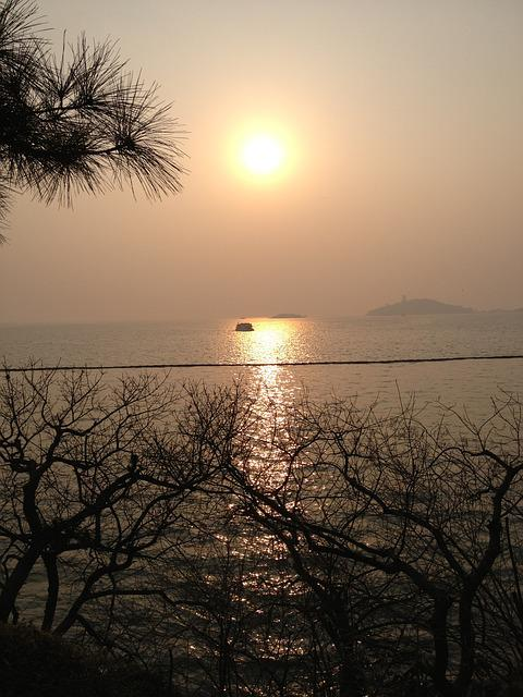 Taihu Lake, Wuxi, Twilight, Sunset, Horizon, Sea