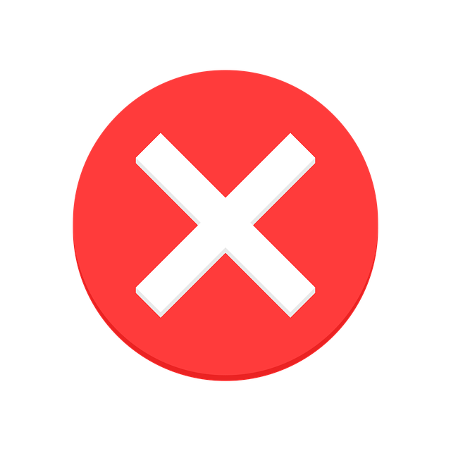 False, Error, Missing, Absent, X, Red, Cross, Letter