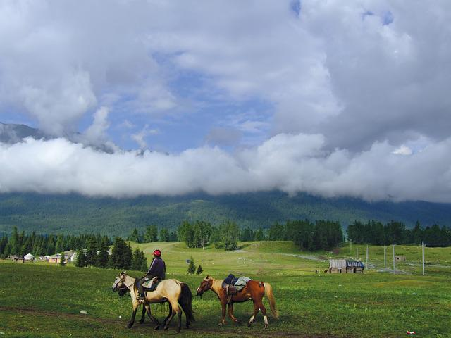 China, Xinjiang Herdsmen Transition, The Scenery