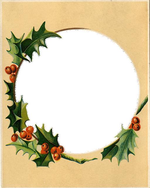 Vintage, Antique, Frame, Christmas, Xmas, Holidays