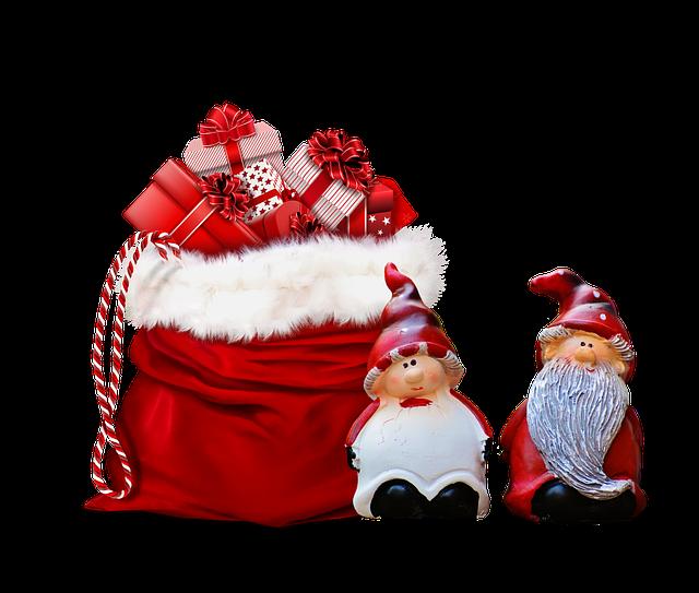 Xmas, Presents, Gifts, Grnomes, Bag, Christmas, Cute