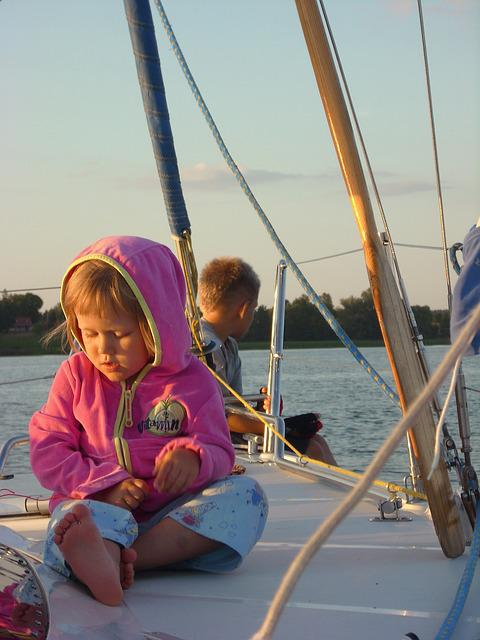 Child, Children, Yacht, Sails, Lake, Thoughtfulness