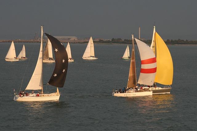 Yachts, Sailing, Isle Of Wight, Sails, Yacht, Sea, Boat
