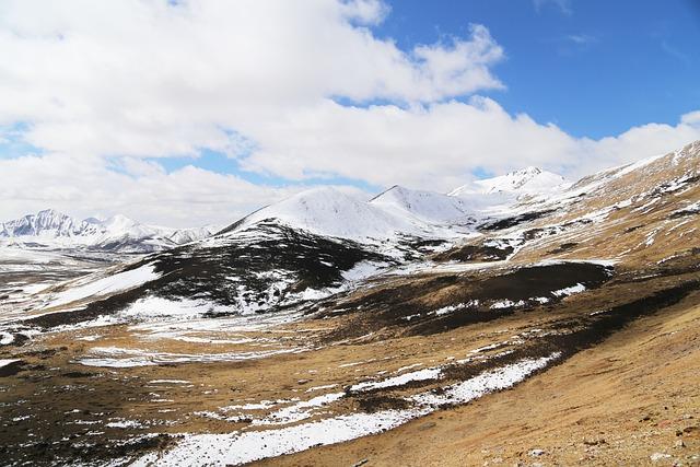 Tibet, Mila Mountains, Yakou, Blue Sky