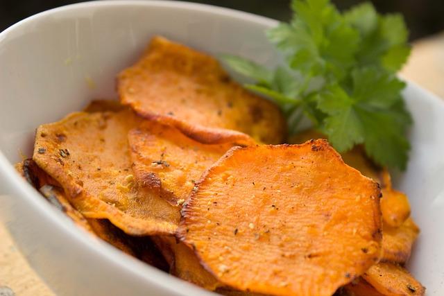 Yam, Chips, Potato, Sweet Potato Chips, Healthy, Snack
