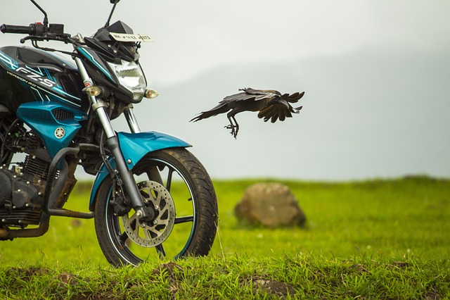Bike, Yamaha, Crow, Flying