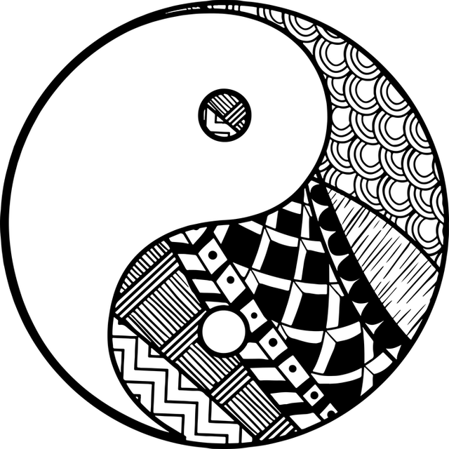Decorative, Symbol, Yang, Yin