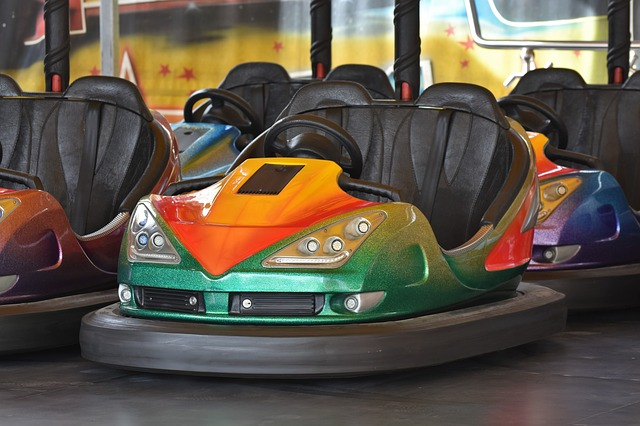 Bumper Cars, Ride, Fair, Folk Festival, Year Market
