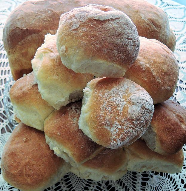 Bread Rolls, White Flour, Yeast, Kamut, Baked Food