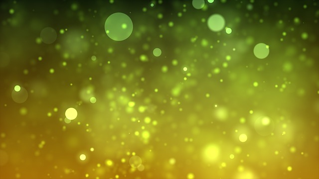 Green, Yellow, Bokeh, Abstract, Background