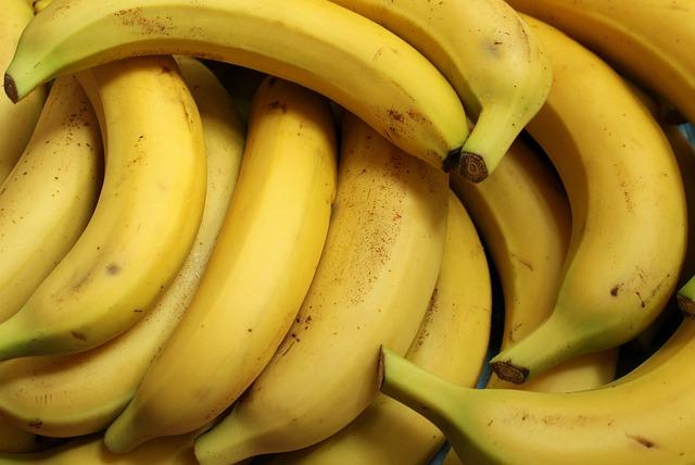 Bananas, Fruit, Food, Fresh, Mature, Yellow, Vitamins