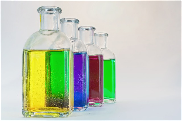 Bottles, Colorful, Glass, Color, Blue, Red, Yellow