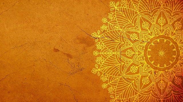 Mandala, Yellow, Background, Design, Pattern
