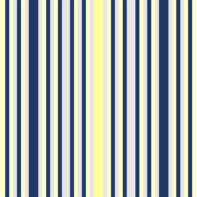 Stripes, Vertical, Navy, Blue, Yellow, Grey, Shapes