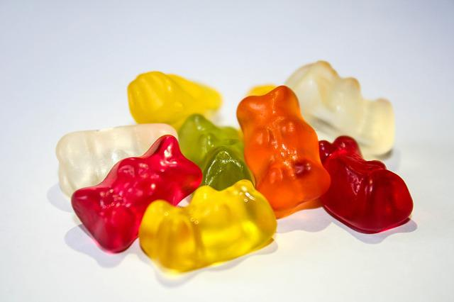 Gummibärchen, Color, Candy, Nibble, Green, Yellow, Red