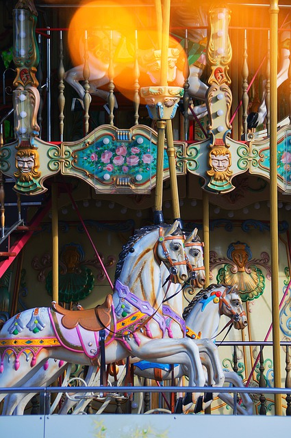 Carousel, Celebration, Holiday, Light, Yellow, Color