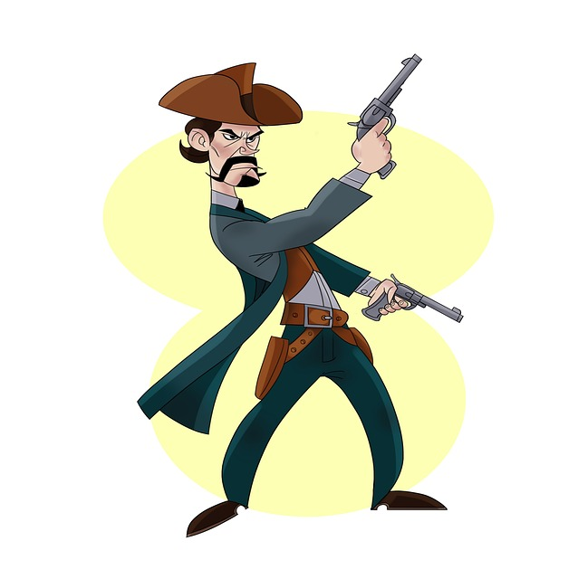 Man, West, Weapons, Yellow, Hat, Boots, Holster