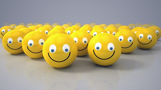 Smiley, Yellow, Ball, Look, Smile, Positive, 3d