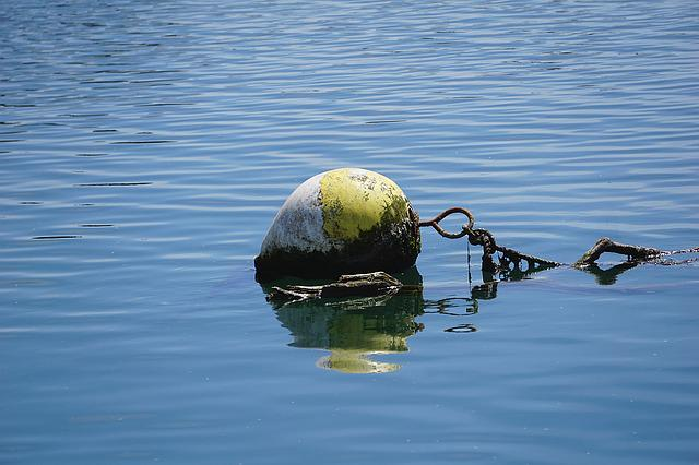 Buoy, Beacon, Water, Blue, Yellow, Marine, Float, Sea