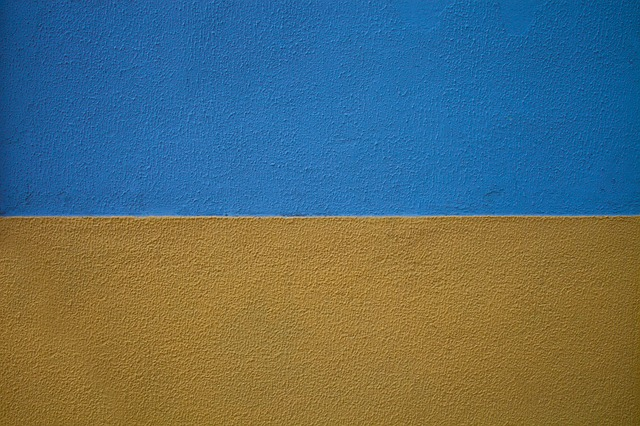 Free photo Yellow Paint Colorful Painted Wall Color Blue - Max Pixel