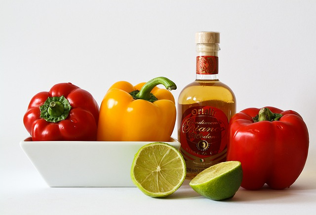 Vegetables, Food, Red Pepper, Red, Yellow, Lime