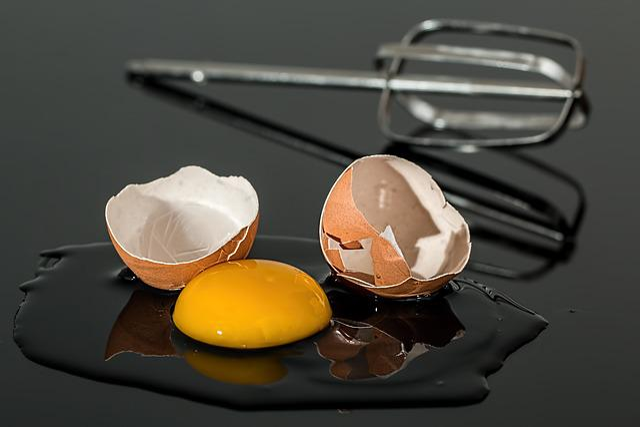 Egg, Eggshell, Broken, Yolk, Shell, Yellow, Egg Beater