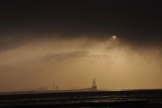 Sunrise, Shower, Cloud, Incheon Bridge, Yeongjongdo