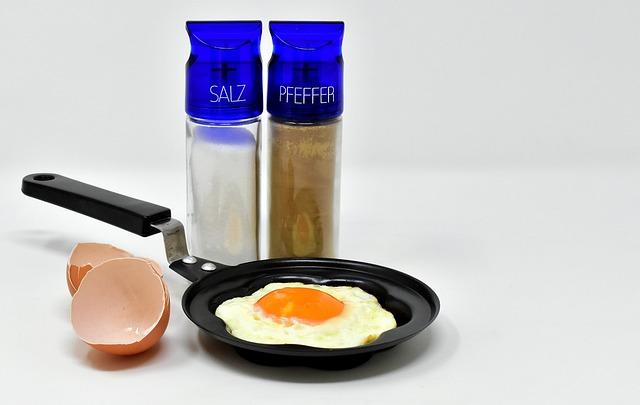 Fried, Pan, Fried Eggs, Eat, Fry, Yolk, Food