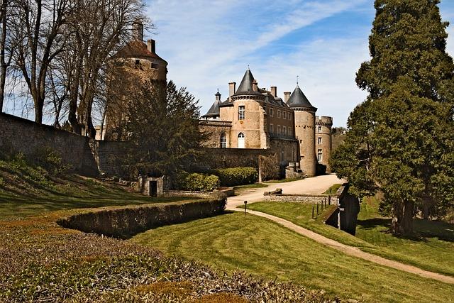 Castle, Chatelux, Yonne, Park, Monument
