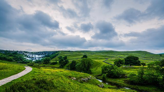 Landscape, Yorkshire, Malham, Yorkshire Dales