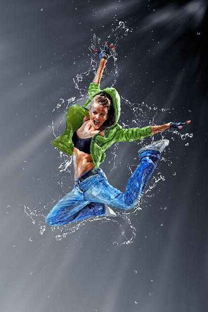 Jumping, Dancing, Girl, Young, Female, Person, Activity