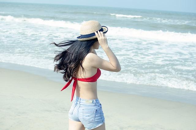 Beach, Young, Girl, Woman, Woman Beach, Vacation