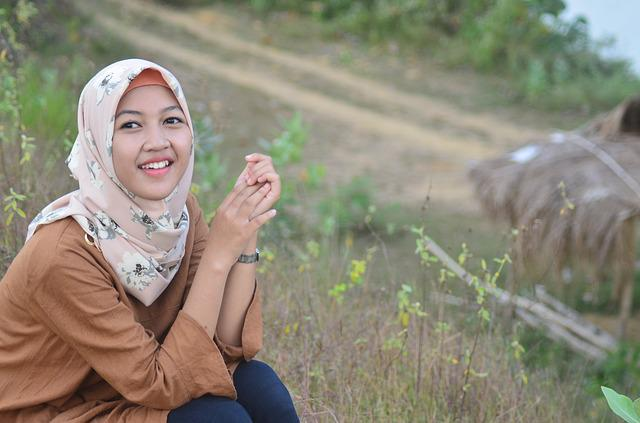 Smile, Hijab, Muslim, Female, Young, Indonesian