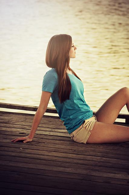 Young, Girl, Pretty, Beauty, Hair, Relaxing, Resting