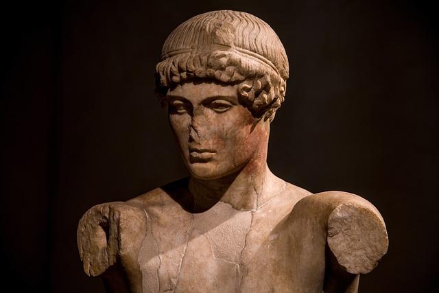 Statue, Roman, Antique, Sculpture, Stone, Man, Young