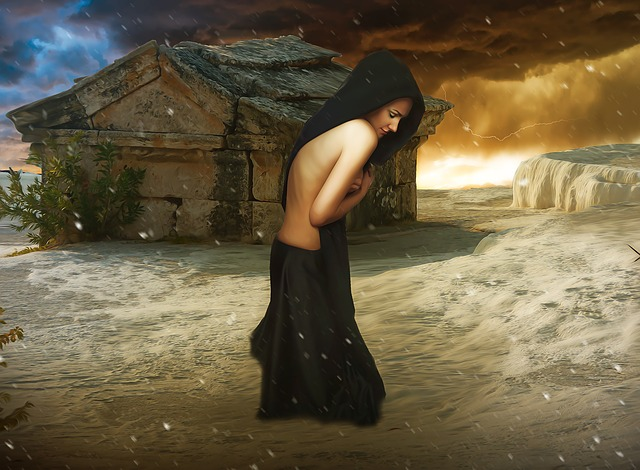 Woman, Female, Young, Beauty, Hooded, Fantasy, Dark