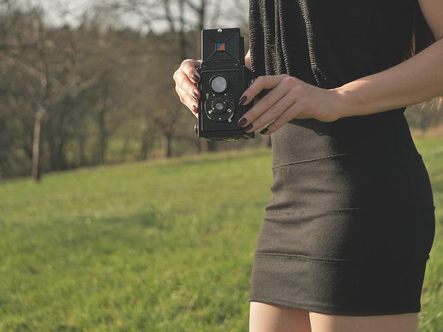 Rollei, Woman, Camera, Young Woman, Female Model, Old