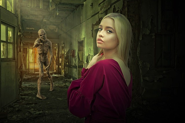 Zombie, Horror, Dark, Gothic, Fear, Woman, Girl, Young