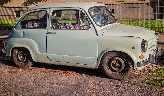 Vintage, Auto, Yugoslav Car, Fiat, Old, Pastel, Tiny