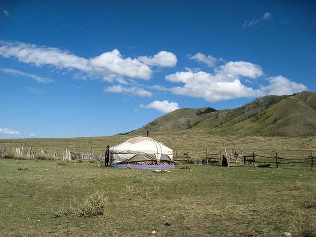 Yurt, Mongolia, Steppe