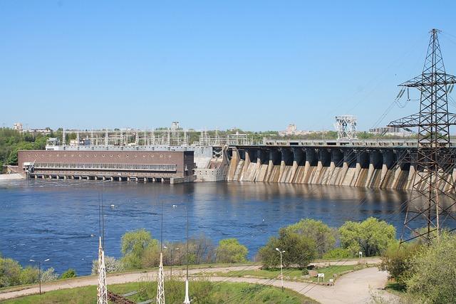 Dam, The Dnieper, Hydroelectric, Ukraine, Zaporozhye