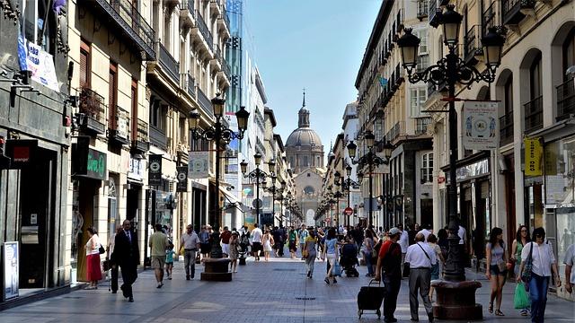 Zaragoza, Town, Centre, Center, City, Architecture