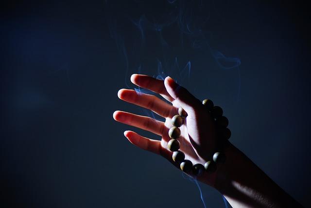 Hand, Buddhist Prayer Beads, Smoke, Zen