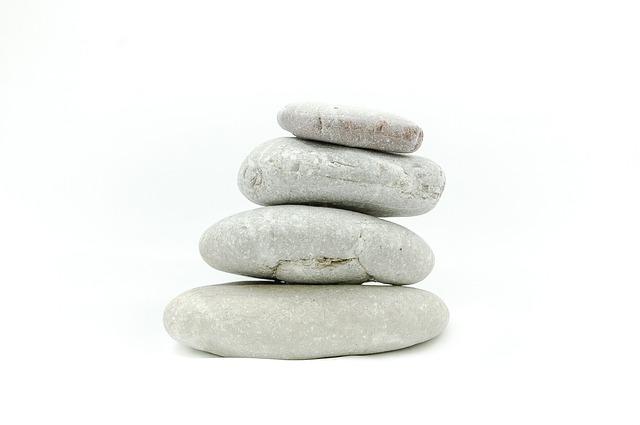 The Stones, Stone, On A White Background, Zen