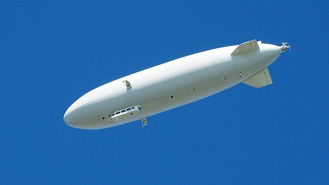 Zeppelin, Airship, White, Sky, Drive, Fly