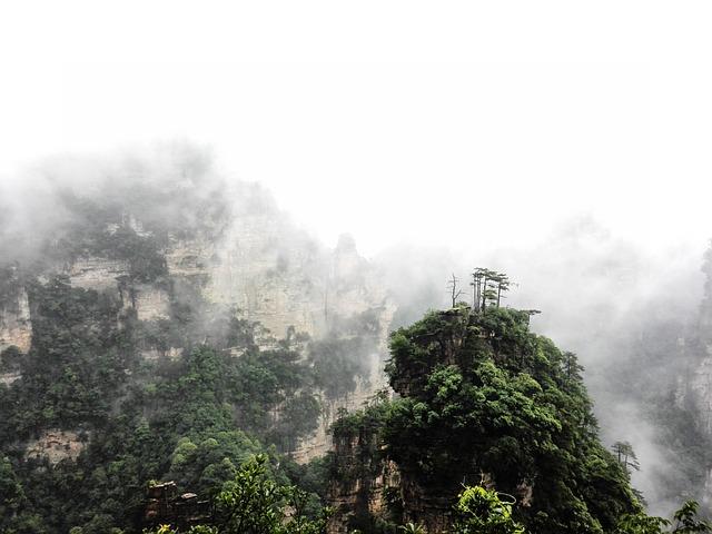 Zhangjiajie, Clouds, Summer Hill