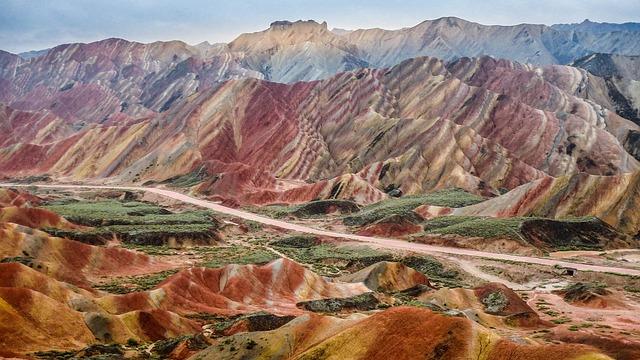 Zhangye, Scenery, Colorful, Danxia