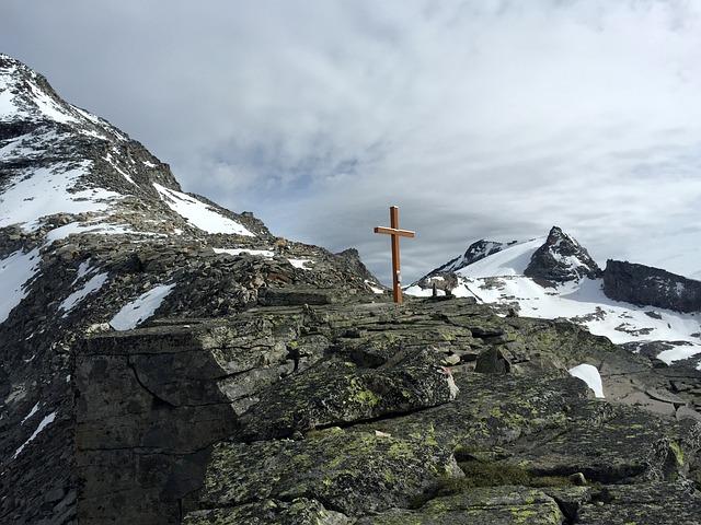 Mountain, Cross, Hiking, Zillertal